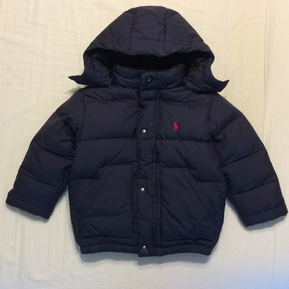 men/man new arrival famous designer brand Boys Polo Ralph Lauren Down Jacket Coat 2T Navy